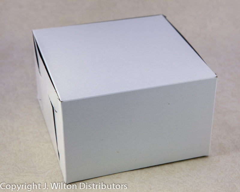 CAKE BOX 14x10x4 1PC WHITE