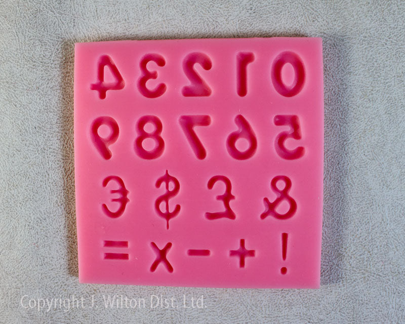 SILICONE MOLD NUMBERS & SYMBOLS