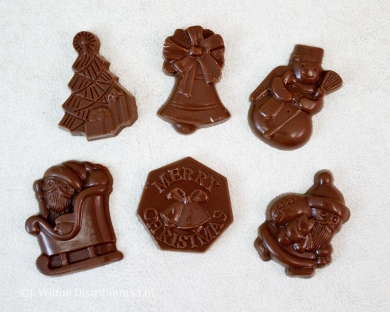 POLYCARBONATE CHOCOLATE MOLD XMAS ASSORTMENT
