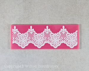 "SILICONE LACE MAT 7""x2.5"" FLORAL1"
