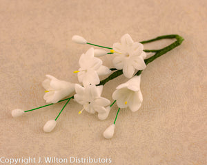 HYACINTH SPRAY 4PC WHITE