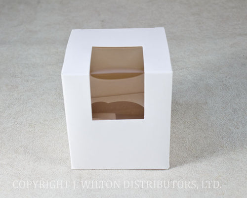 CUPCAKE BOX w/ INSERT SINGLE 4PC.