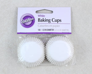 MINI BAKING CUP 100PC WHITE