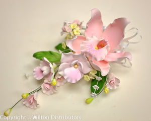 "CYMBIDIUM ORCHID SPRAY 4""X8.5"" PINK"