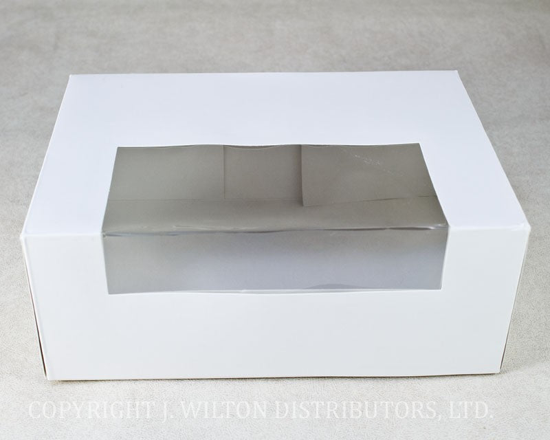 CUPCAKE BOX w/ WINDOW 1PC.- HOLDS 12 STANDARD CUPCAKE