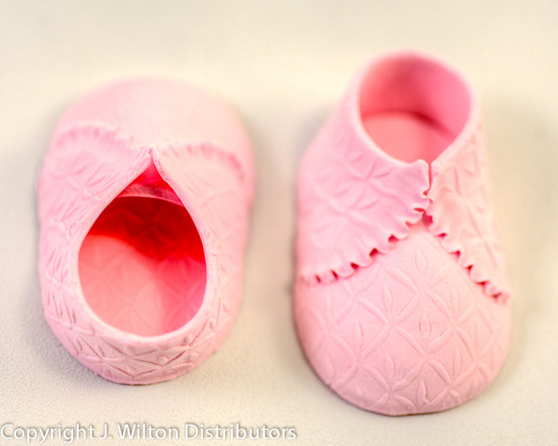 BABY SHOE -KNIT- 2PC PINK