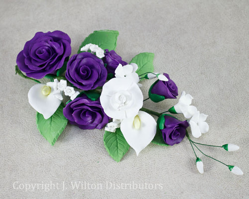 ROSE BUNCH w/ CALLA LILY PURPLE