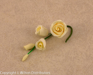 GUMPASTE ROSE FILLER MINI 4PC IVORY