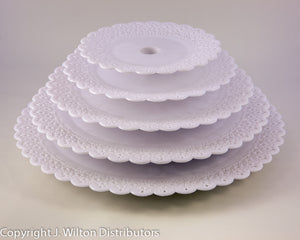 "TALL TIER PLATE 8"" LACY"