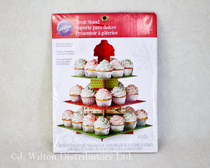 CUPCAKE & TREAT STAND SQUARE HOLIDAY