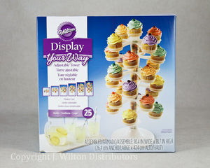 CUPCAKE TOWER 6 TIER 25 COUNT CLEAR