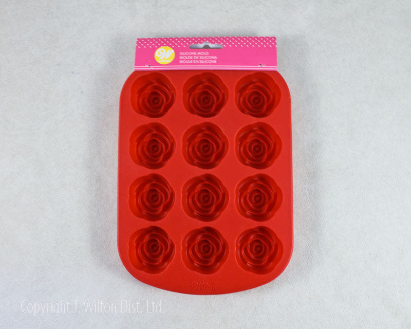 SILICONE MOLD 12 CAVITY ROSES