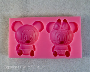 SILICONE MOLD MICKEY & MINNIE MOUSE