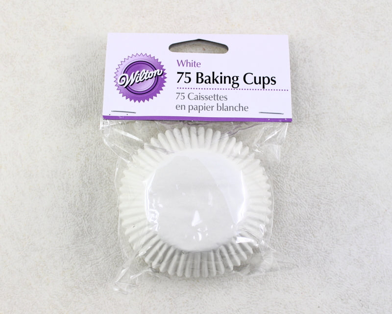 STANDARD BAKING CUP WHITE 75PC WHITE