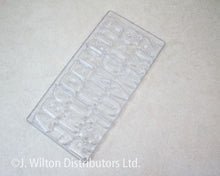 POLYCARBONATE CHOCOLATE MOLD ALPHABET CAPITAL LETTERS