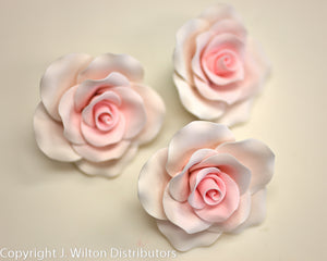 "OLD FASHIONED ROSE 3"" 3PC PINK"