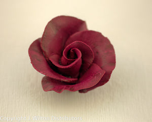 "FORMAL ROSE MEDIUM LARGE 1 1/2"" 8PC BURGUNDY"