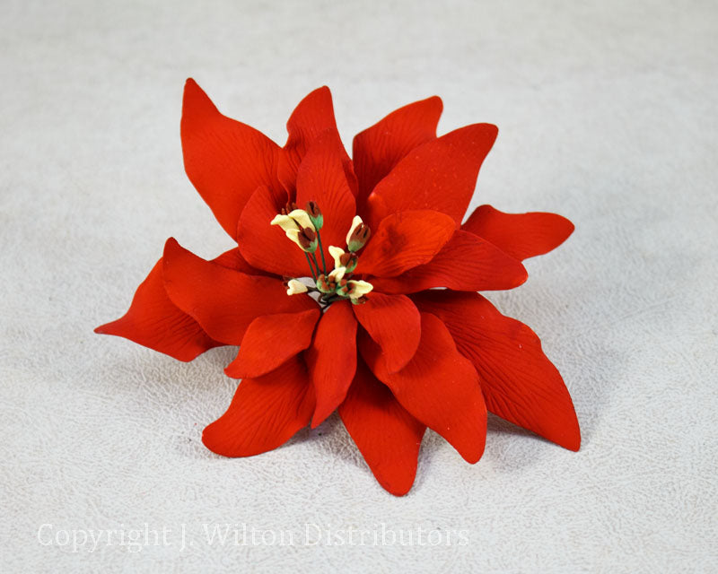 GUMPASTE POINSETTIA LARGE 1PC. RED