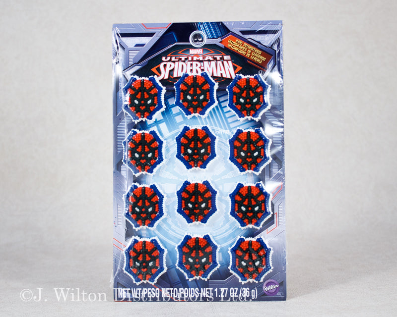 ULTIMATE SPIDERMAN ICING DECORATIONS