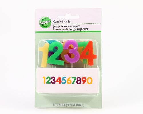 CANDLE PICK SET NUMBERS 10PC