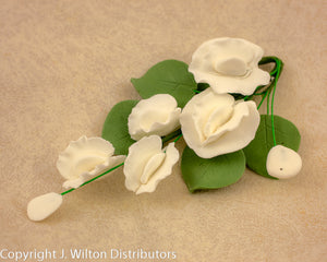 GUMPASTE SWEET PEA SPRAY 1PC WHITE