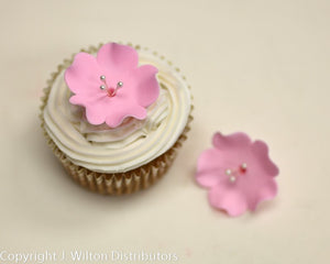 "FRUIT BLOSSOM ICING READYMADE FLOWER 1.25"" 5PC PINK"