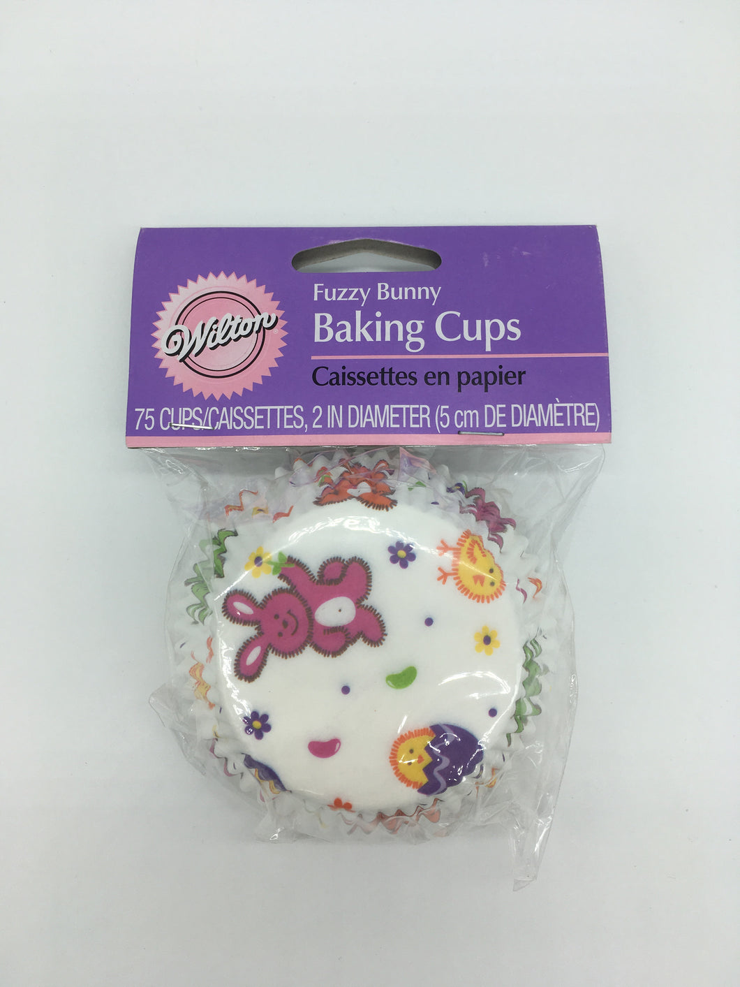 FUZZY BUNNY BAKING CUPS STANDARD 75 PC