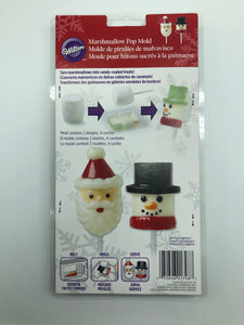 MARSHMALLOW POP MOLD SNOWMAN & SANTA
