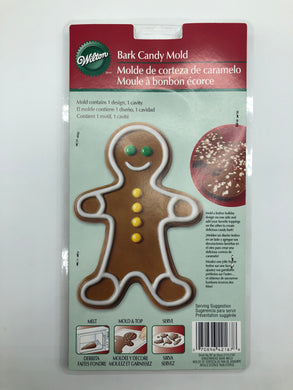 CANDY MOLD JUMBO BARK GINGERBREAD BOY