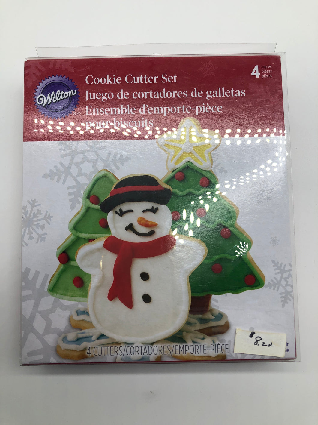COOKIE CUTTER SET 4pc. STAND-UP HOLIDAY