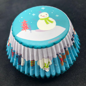 Baking Cups Snowman & Friends