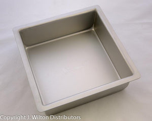 "CAKE PAN SQUARE 3"" HIGH"