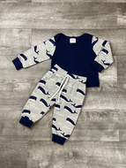 Whale Pant Set- INCLUDES BEANIE
