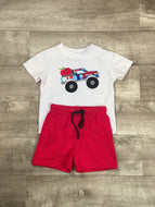 Back To School Monster Truck Short Set