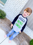 Be Brave Little Monster Raglan