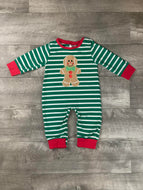 Bow Tie Gingerbread Romper
