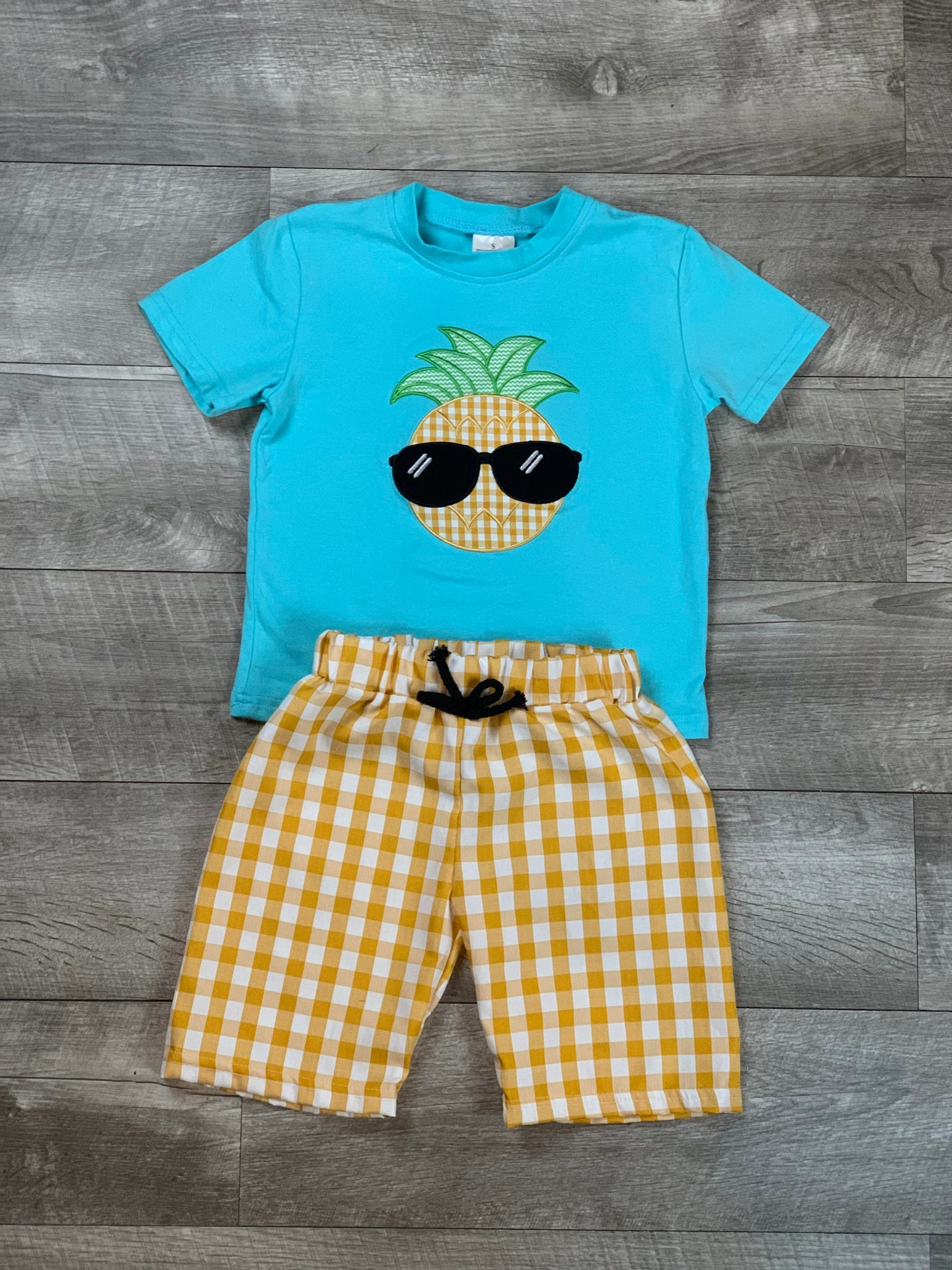 Cool Pineapple Short Set