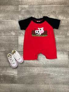 Cow Grazing Romper