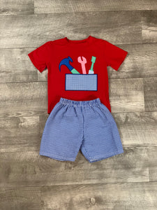 Daddy's Helper Short Set