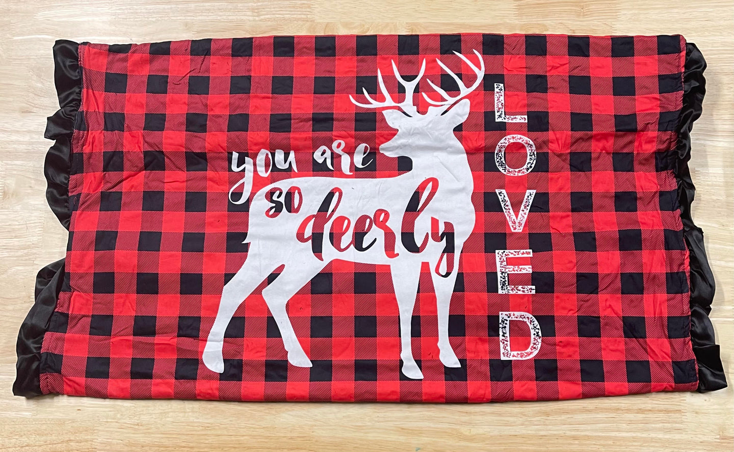 Deerly Loved Buffalo Plaid Blanket