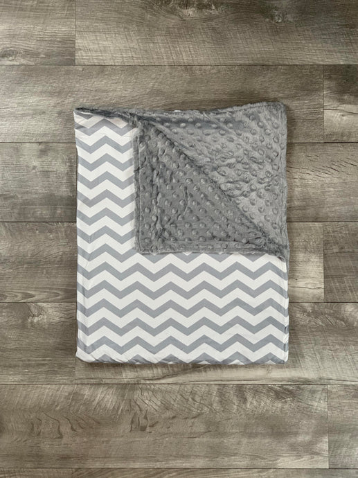 Gray Chevron Blanket
