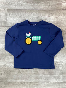 Green Plaid Tractor Raglan