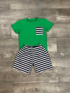 Green and Navy Ripken Short Set