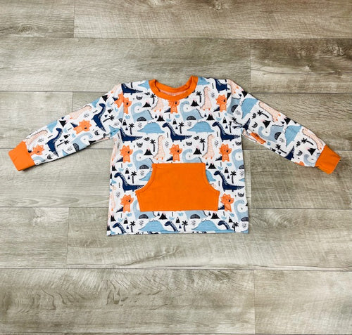 Blue & Orange Dino Shirt
