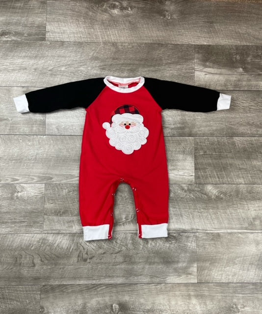 Red & Black Santa Romper