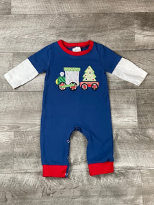 Christmas Train Romper
