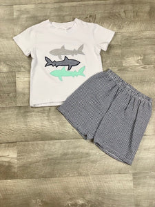 Blue shark short set