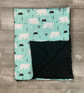 Bear and Mountain Blanket