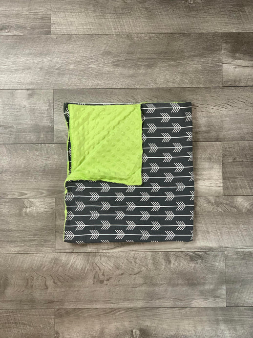 Neon and Dark Gray Blanket