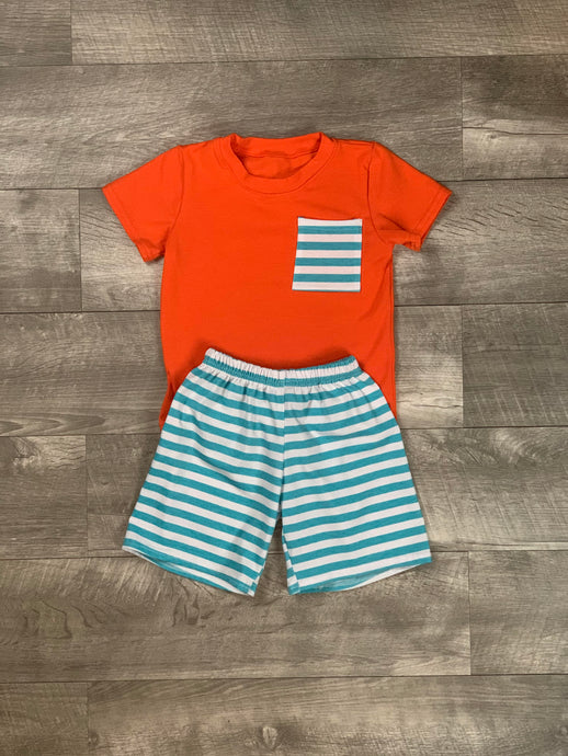 Orange and Blue Ripken Short Set